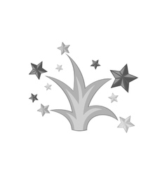 Firework icon black monochrome style vector image