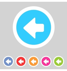 Flat game graphics icon arrow left vector image vector image