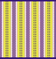 folk geometric seamless pattern pixel art and vector image