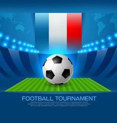 Football tournament road to france 2016 vector