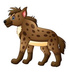 Funny hyena cartoon vector