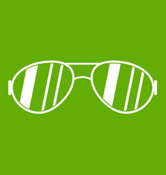 Glasses icon green vector