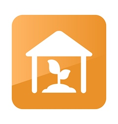 Greenhouse icon farm vector