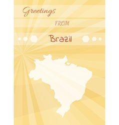 greetings from brazil vector image