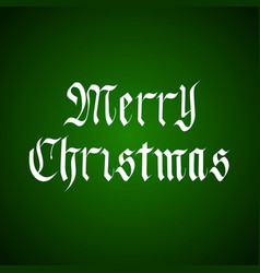 Handdrawn merry christmas lettering in vector