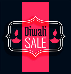 happy diwali sale background in flat colors vector image
