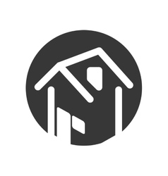 house real estate tag vector image