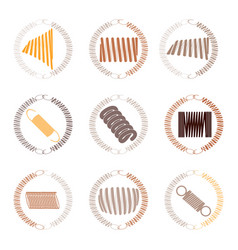 Icon set with springs vector
