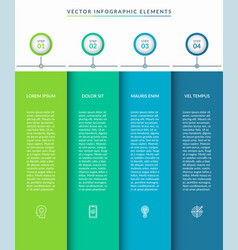 infographic template with 4 tabs vector image