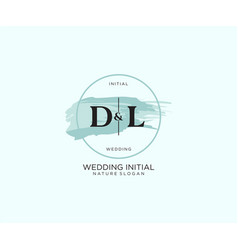 Initial dl letter beauty logo handwriting vector