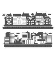 Landscape city banner vector