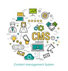 Line art concept - cms vector
