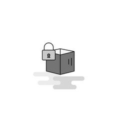 locked box web icon flat line filled gray icon vector image