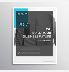 Magazine cover annual report brochure template vector