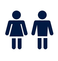 man lady toilet icon vector image