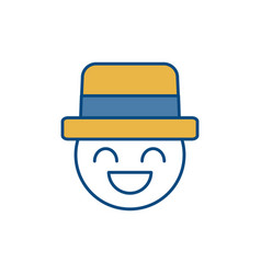 Man wearing hat icon vector