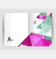 modern business brochure or leaflet a4 cover vector image