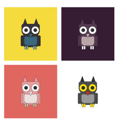 owl - icon design on white background vector image