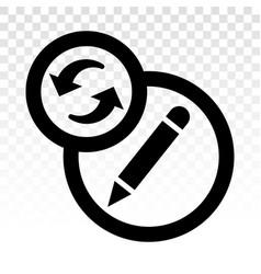 Past edit editing history - line art icon vector