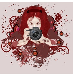 Photographer girl vector