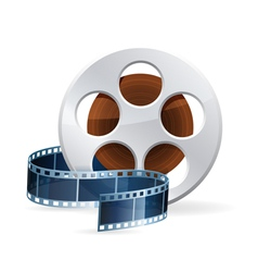Realistic detailed cinema bobbin vector
