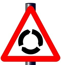 Roundabout Traffic Sign vector image