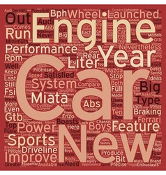 SC sports cars text background wordcloud concept vector