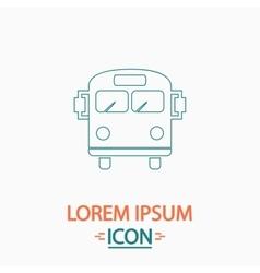School Bus computer symbol vector