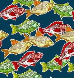Seamless Fishes Background vector