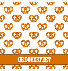 Seamless pattern with pretzels for oktoberfest on vector