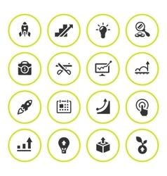 set round icons start-up vector image
