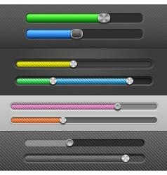 Slider bars vector