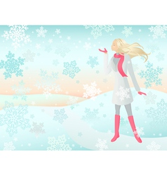 snow girl vector image