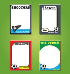 Soccer Futol Cards vector image