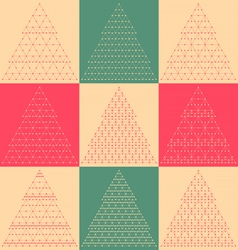 Stylized flat Christmas trees icons vector image