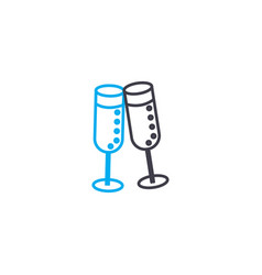 tall wine-glasses linear icon concept tall wine vector image