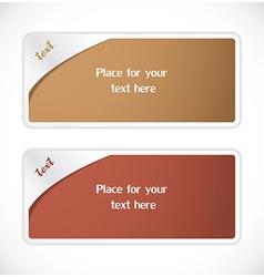 Text Labels vector