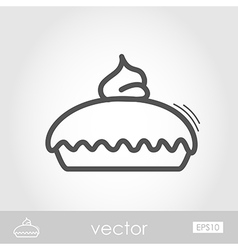 Thanksgiving Pie outline icon Thanksgiving vector