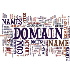 the mystery behind domain names text background vector image
