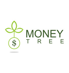 Tree money logo vector