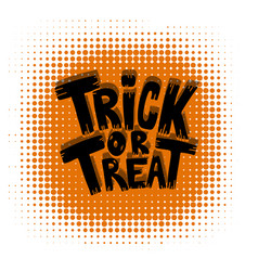 trick or treat halloween theme vector image