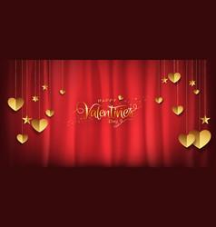 valentines day luxury background gold glitter vector image