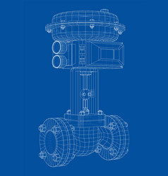 Valve with automatic electro-actuated vector