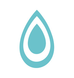 water drop symbol to environment care vector image