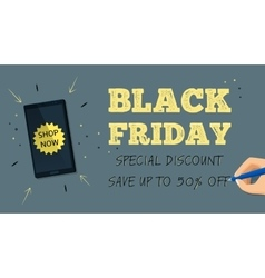 Web banner for Black Friday sale vector