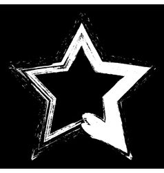 White star grunge vector