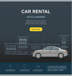 car rental and auto leasing banner vector image vector image