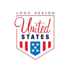 original logo design of united states emblem with vector image