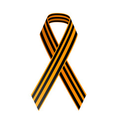 St george black and gold ribbon may 9 happy vector