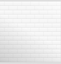 brick wall light background white texture vector image vector image